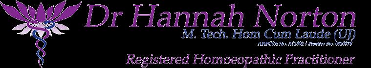 Dr Hannah Norton Homeopath